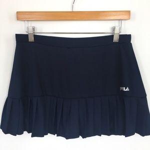 fila pleated tennis skirt navy blue medium